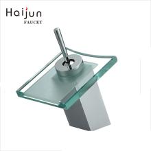 Haijun Super September Hot Selling Deck Mounted Single Handle Basin Brass Sink Waterfall Faucets