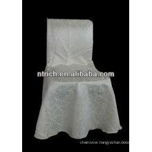 Jacquard chair cover for wedding hall chairs, damask fabric chair cover