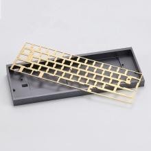 Plaque de boîtier de clavier mécanique d'usinage CNC personnalisé