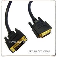 Hochwertiges Gold überzogenes schwarzes DVI zum DVI Kabel DVI 24 + 1 FÜR SAMSUNG MONITOR DELL