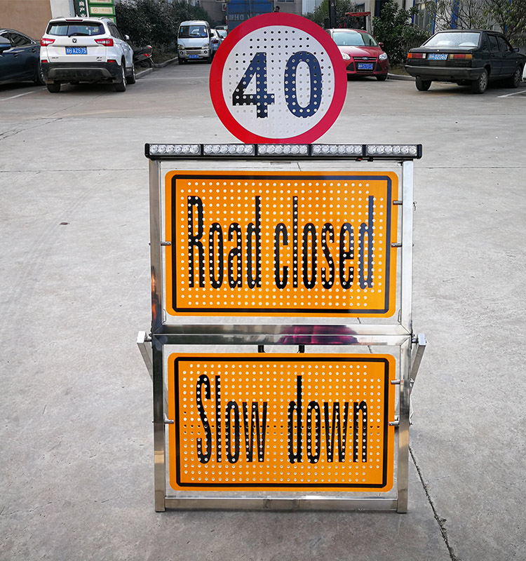outdoor folding traffic signs