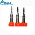BFL Tungsten Carbide 2 Flutes Ball Nose Tools, Ball Nose 2 Flutes End Mill