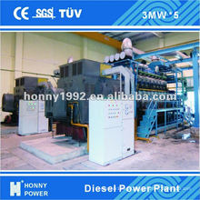 Diesel / Gas 1 MW- 100 MW Power Plant para la venta