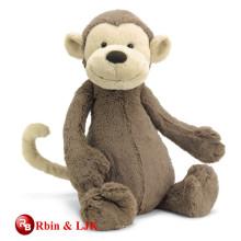 Grey color super soft plush monkey toys