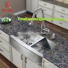 Cupc US American Style Farmhouse Handmade Stainless Steel 304 Double equal Bowl Kitchen Apron front Sink