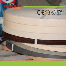 Bande de bordure de grain de bois PVC pour meuble et meuble