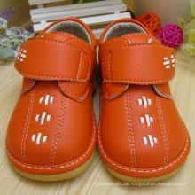 Orange Baby Schuhe Squeaky Schuhe