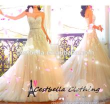2016 vestido de noiva Brial moderno vestido de festa com alta qualidade