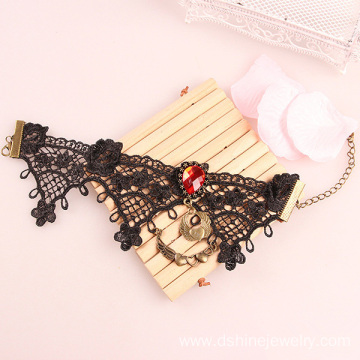 India Vintage Black Lace Anklet For Women Love Gift For Girl