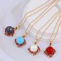 30954 Xuping design simples cor de ouro shell pingente de pérola para as mulheres