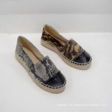2014 venda direta da fábrica bonito feminino Banded flats sapatos sapatos de lona esportes recreativos combinação Espadrille