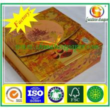 Premium quality ring box made of gold cardboard