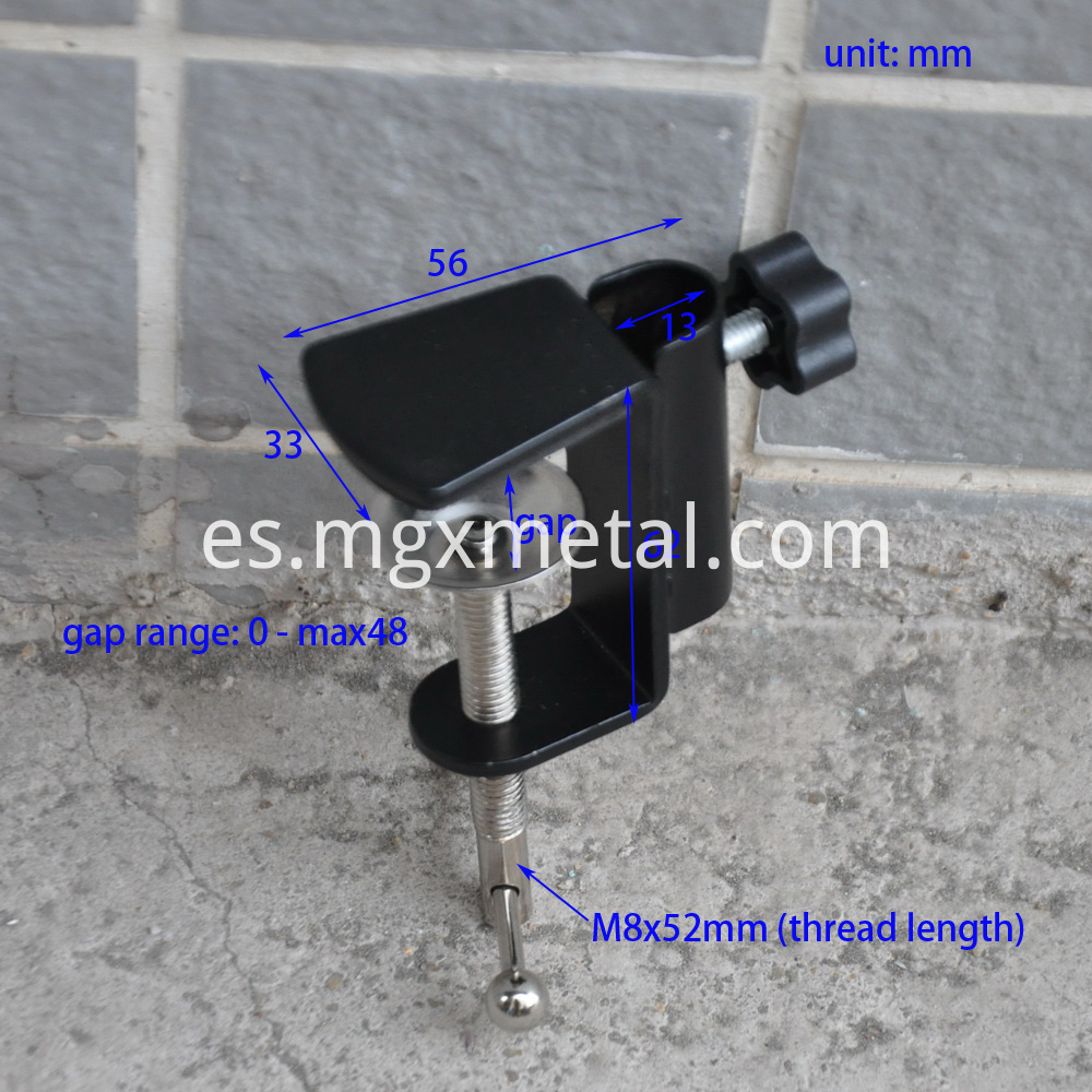 RTC0004 Steel Flag Pole Portable Clamp Size