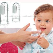 Brosse à dents en silicone souple et transparente pour bébé