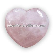 Puffy en forma de corazón de cuarzo rosa cumpleaños stone35MM