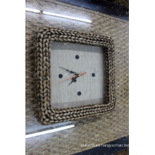 Newest Design water hyacinth Wall Clock Indoor Furniture