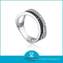 Fabricante de anel de prata elegante do presente (SH-R0077)