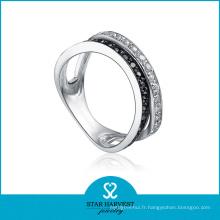 Fabricant élégant d'anneaux en argent (SH-R0077)