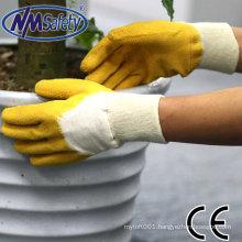 NMSAFETY latex glove manufacturer working gloves producer en388 cotton gloves