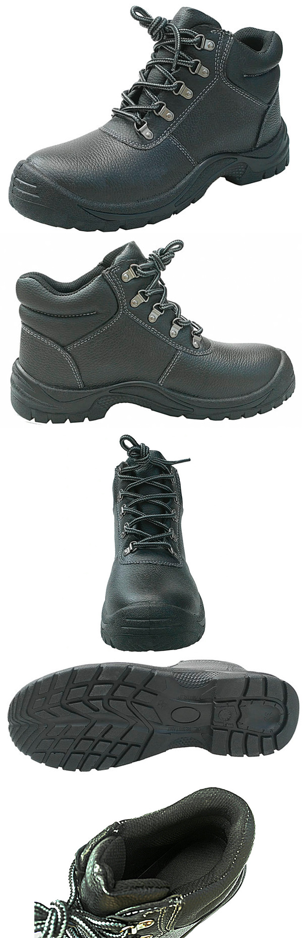 Steel Toe Cap and Steel Midsole Safety Shoes with CE Certificate SS6B086-X