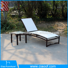 New outdoor sun lounger with wheels and side table
