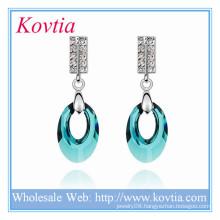 Top design Austrian crystal wedding earrings for ladies bohemian jewelry