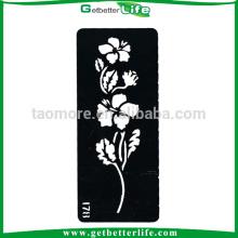 Getbetterlife temporária Glitter tatuagem flor desenho estêncil (13 * 6cm)