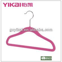 Velvet flocking hanger with trousers bar