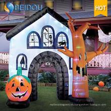 Fábrica Inflables Decoraciones de Halloween Halloween Inflatable Haunted House for Sale
