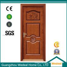 Kundengebundene hölzerne MDF PVC lamellierte Tür für Hotels / Landhaus