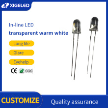 5mm transparent white hair warm white long foot-LED
