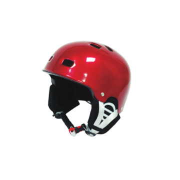 Casco esquí rojo brillante para adulto