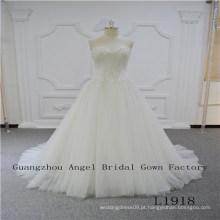 Strapless sexy com vestido de noiva de alta qualidade