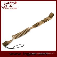 Força elástica tático arma Sling para pistola Sling corda de segurança