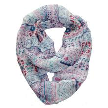 Девушки мода Клубника напечатаны полиэстер вуаль бесконечности шарф (YKY1115)