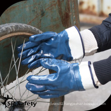 SRSAFETY Oil industry use hand protection blue nitrile glove
