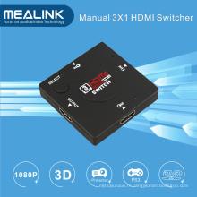 3 ports 1080P Mini 3X1 HDMI commutateurs pour DTV PS3 xBox PC portable