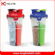 700ml Plastic Double Separated Shaker BPA Free (KL-7015)