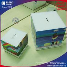 Stainless Steel Acrylic Donation Money Box