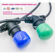 SLO-111 cordes extérieures Corde robuste avec 18 douilles 21 ampoules à incandescence (3 pièces de rechange) Edison Vintage Weatherproof