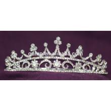 Скидка Блестящий головной убор Crystal Bridal Crown Пользовательские свадебные тиары