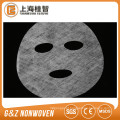 folha não tecida da máscara facial do colagénio da tela