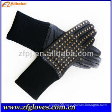 fashion rivet style leather glove