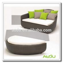 Audu Outdoor Wicker Garden Oval Round Bed
