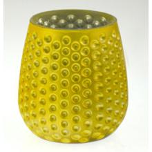 Желтый подсвечник с ананасом (DRL15040)