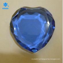 Em forma de coração de cristal de diamante handicrafts paperweight de vidro