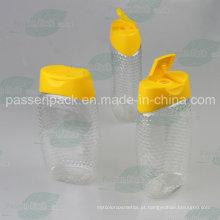 480g garrafa de plástico espremer mel com tampão de válvula de silicone não-gotejamento (PPC-PHB-03)