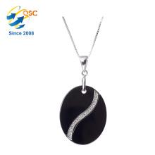 Vente chaude dames bijoux cercle en forme de pierre pendentif collier