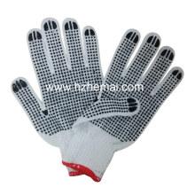Gants de travail de sécurité à main munis de coton doublé à double PVC