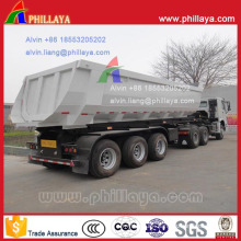 32 Ton U-Shaped Cargo Box Rear Dumper Semi Trailer
